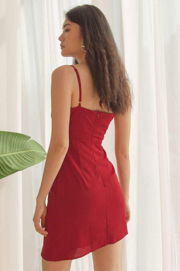 Blindside Dress in Cardinal Red