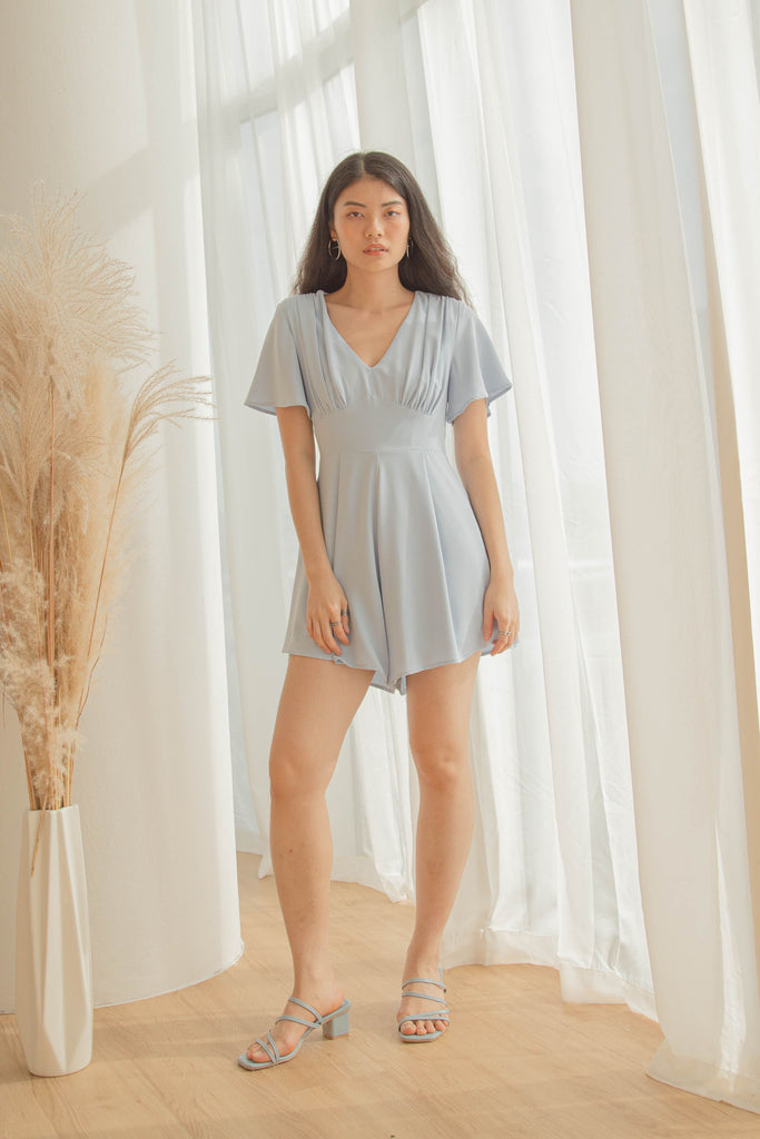 Heartthrob Romper in Lulworth Blue