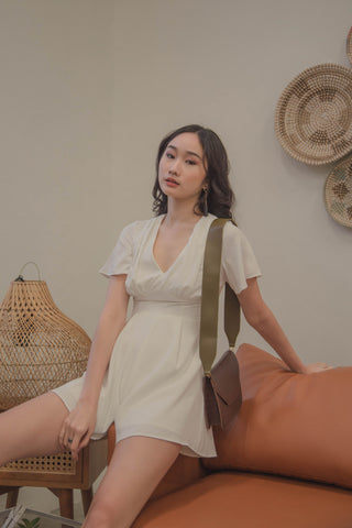 Girlfriend Jumpsuit in Khaki Beige