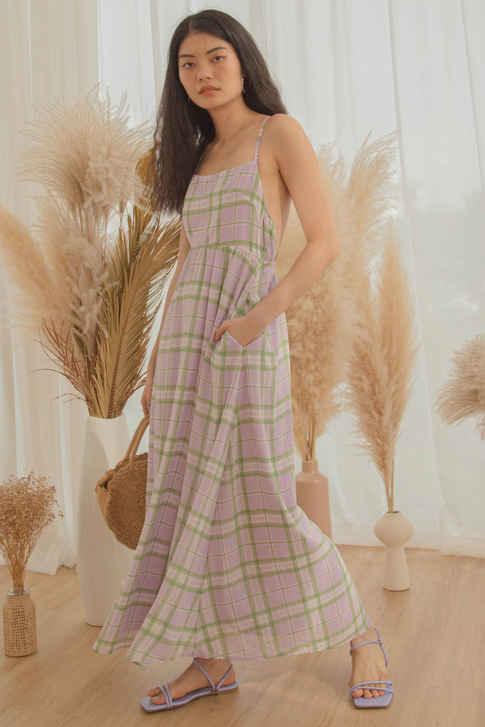 Clueless Maxi in Purple Green