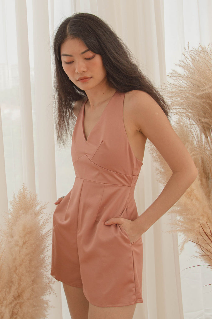 After Hours Romper in New York Pink