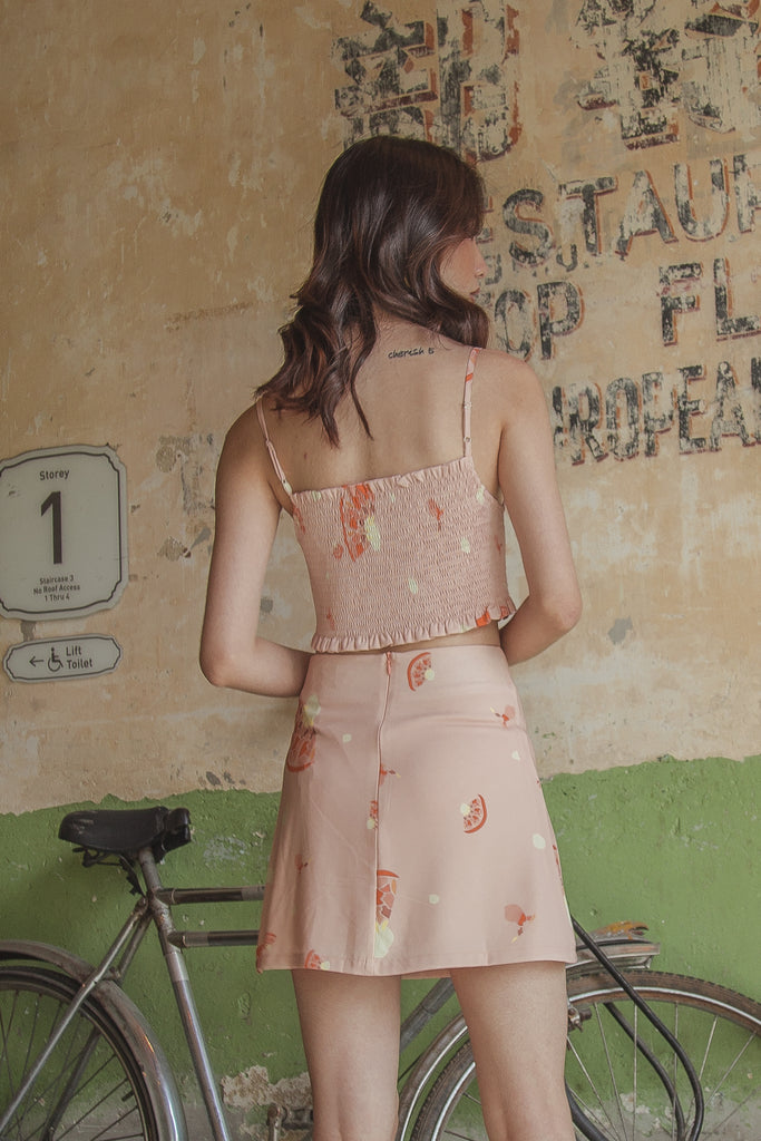 Fruitful Skirt in Peach