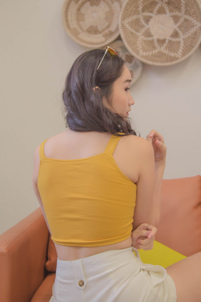 Switch Two Way Top in Saffron Yellow