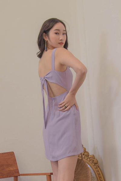 Got Your Back Dress in Parisian Purple