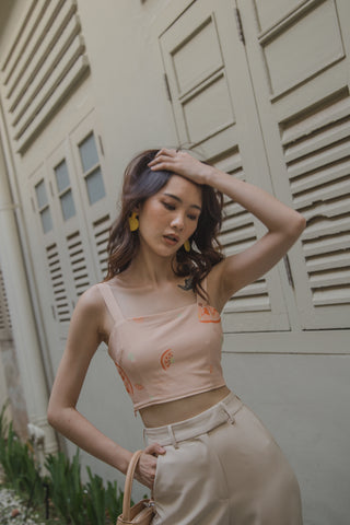 Second Skin Top in Cream Yellow
