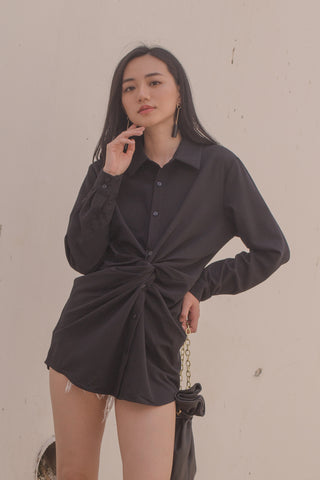Cross Your Heart Jumpsuit in Dark Grey