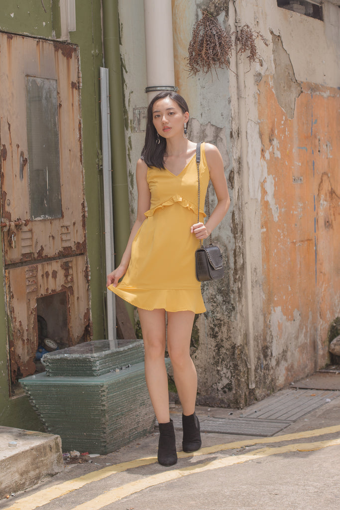 Summer Date Dress in Butter Yellow