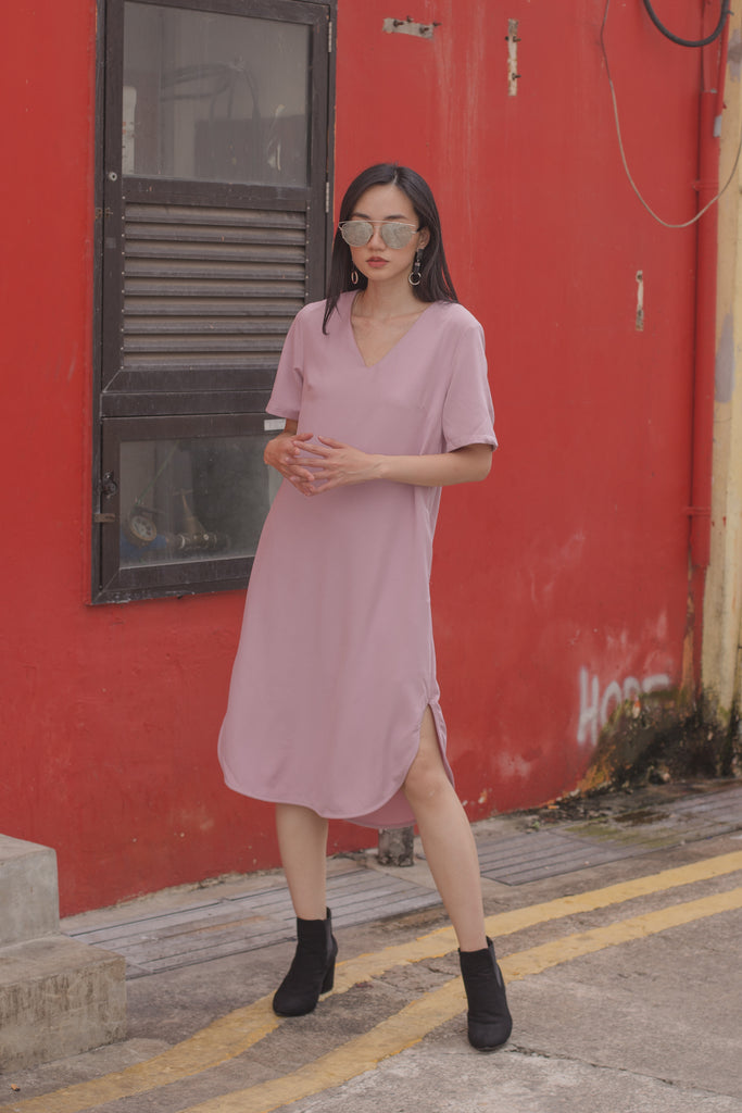 Simplicity Midi in Begonia Pink