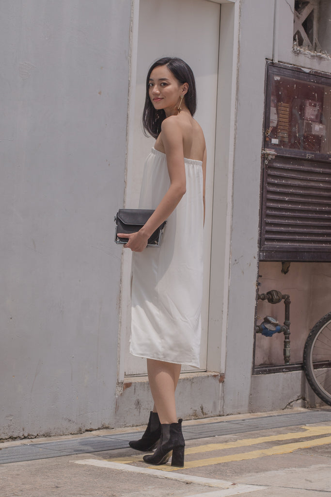 Slide Tube Midi in White