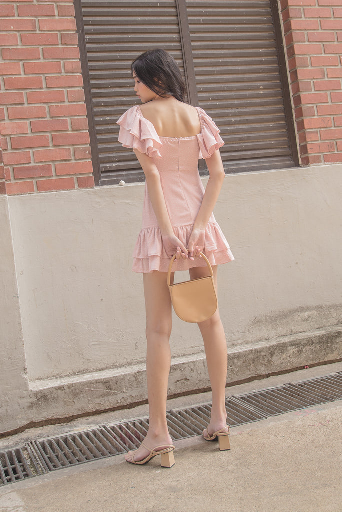 Spot On Dress in Strawberry Milk
