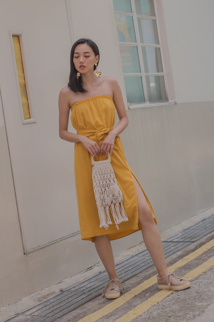 Slide Tube Midi in Golden Yellow