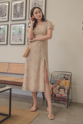 *Back Order* Summertime Dress in French Macaroon Beige