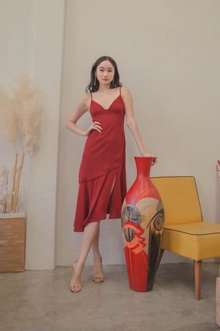 Cupid's Dress in Lava Red