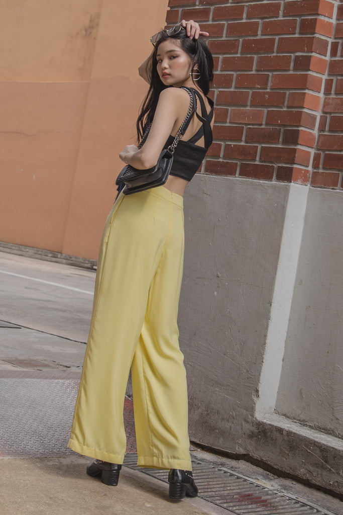 Effortless Pants in Chiffon Yellow