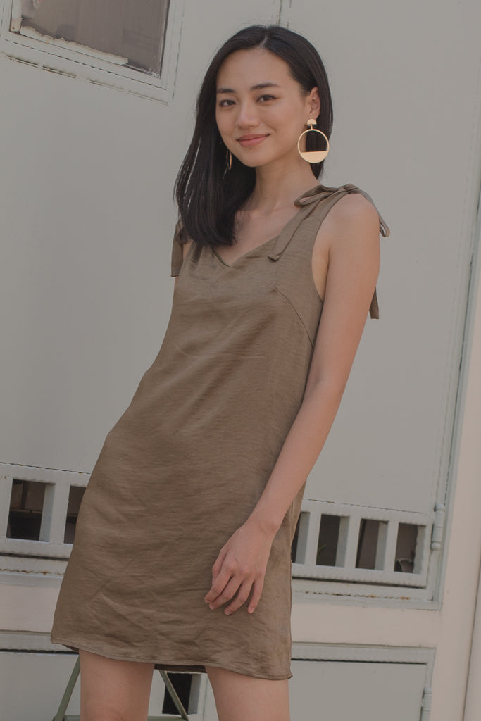 Happy Hour Dress in Olive