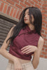 Mystique Top in Merlot