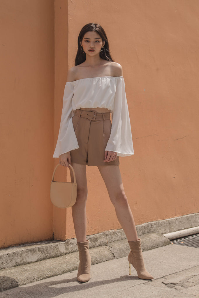 Off The Cuff Top in White