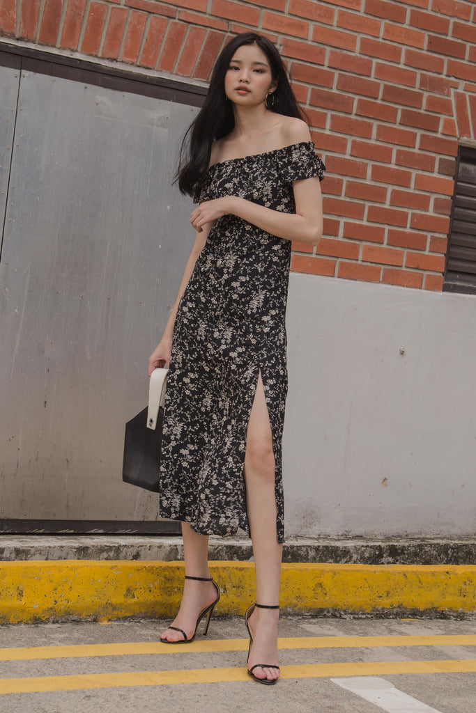 Heiress Midi in Black