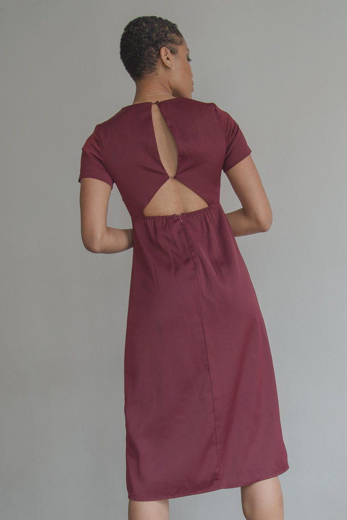 Down Low Dress in Soft Mauve
