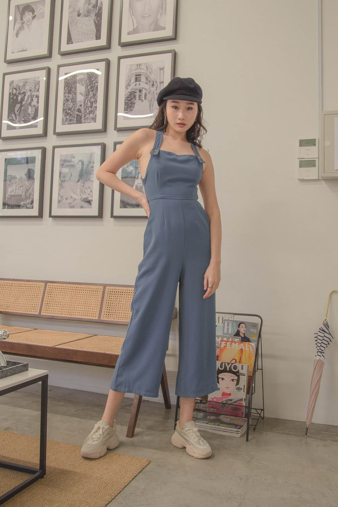 Endless Jumpsuit in Silk Blue