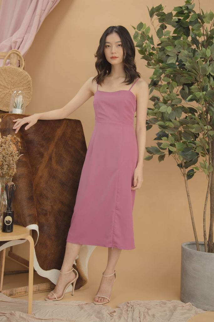 Afterglow Midi in Light Plum Purple