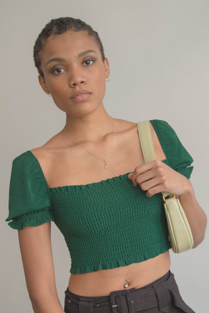 *Back Order* Smitten Top in Timber Green