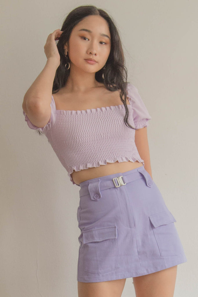 Heroine Skirt in Quartz Purple