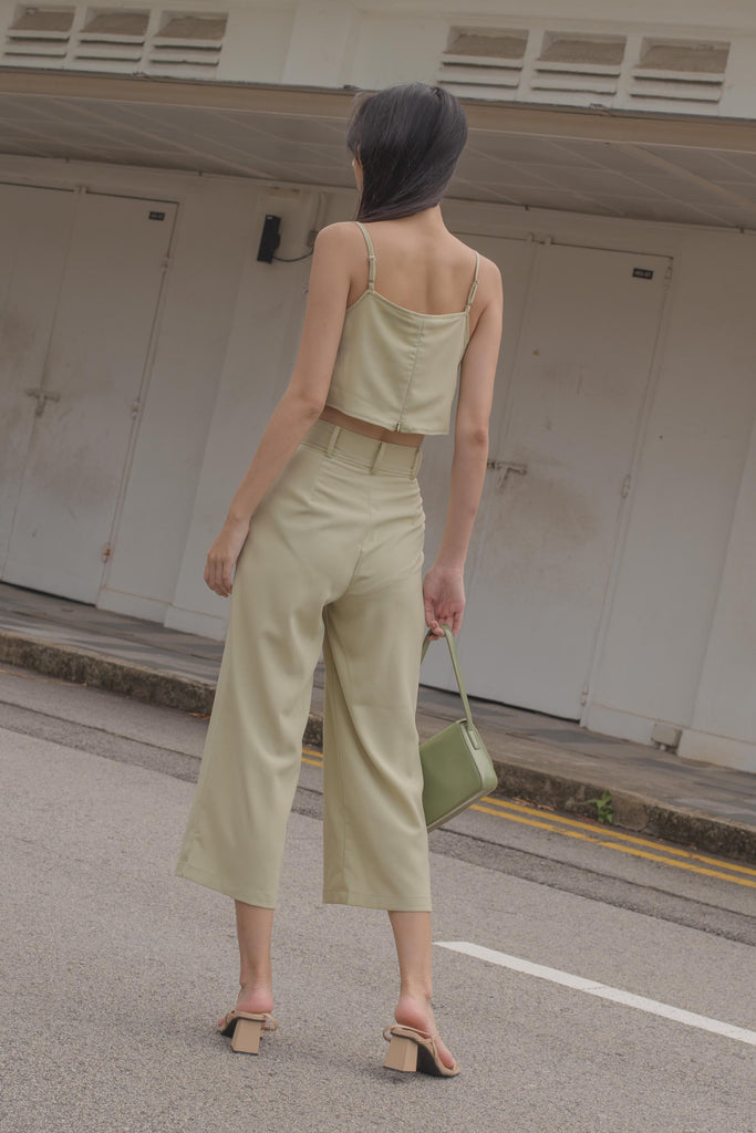 *Back Order* Parallel Pants in Dull Avocado