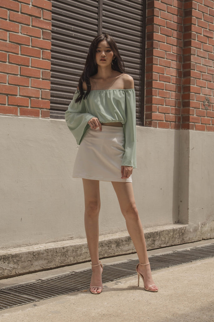 Off The Cuff Top in Paris Green