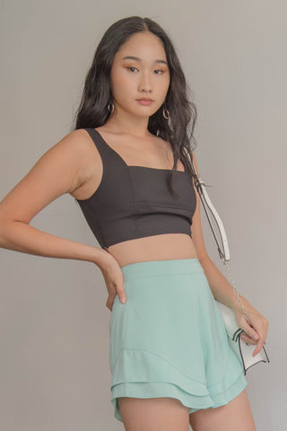 Fade Toga Top in Black