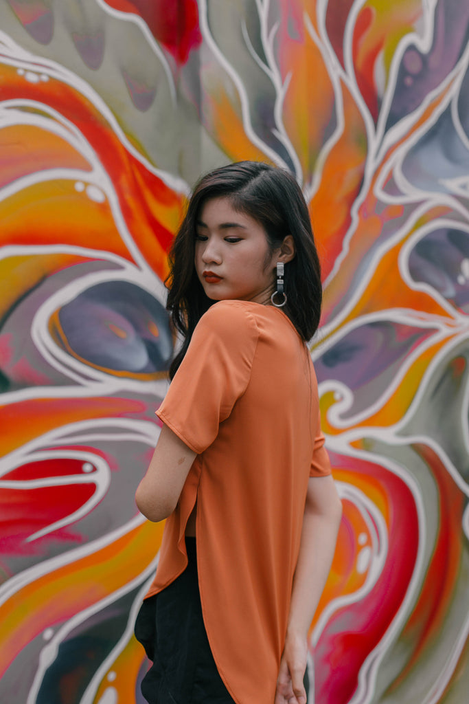 Placid Tee in Burnt Orange