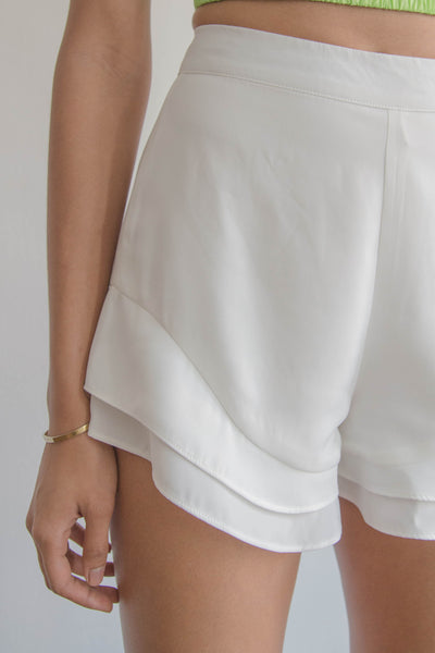 Tidal Shorts in White