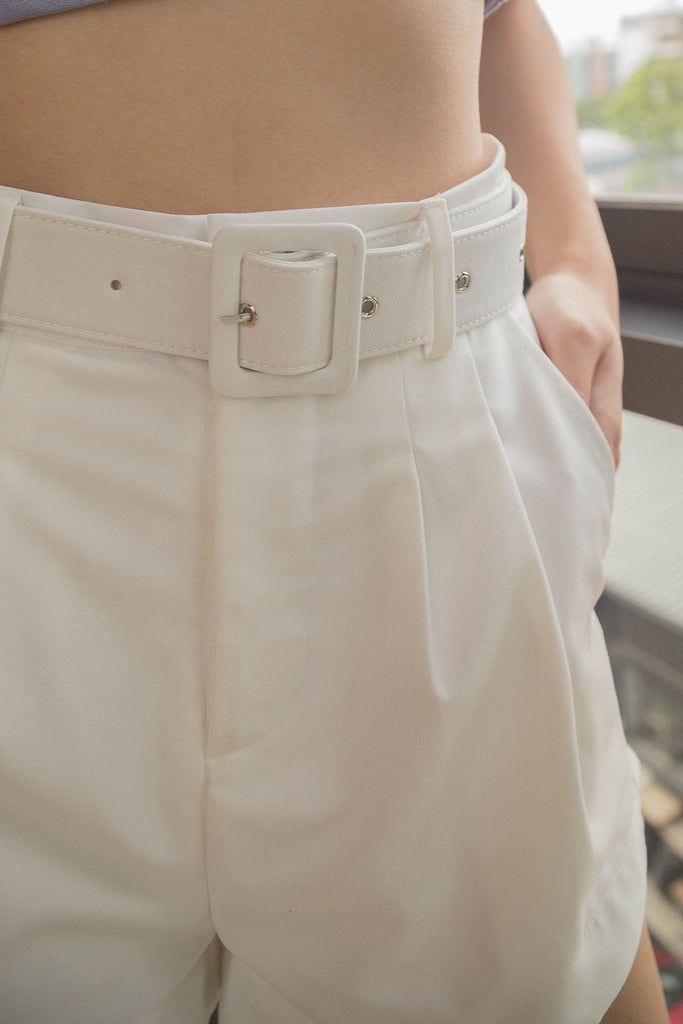 *Back Order* Upside Shorts in White