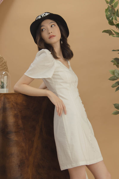 Sweet Talk Dress in White