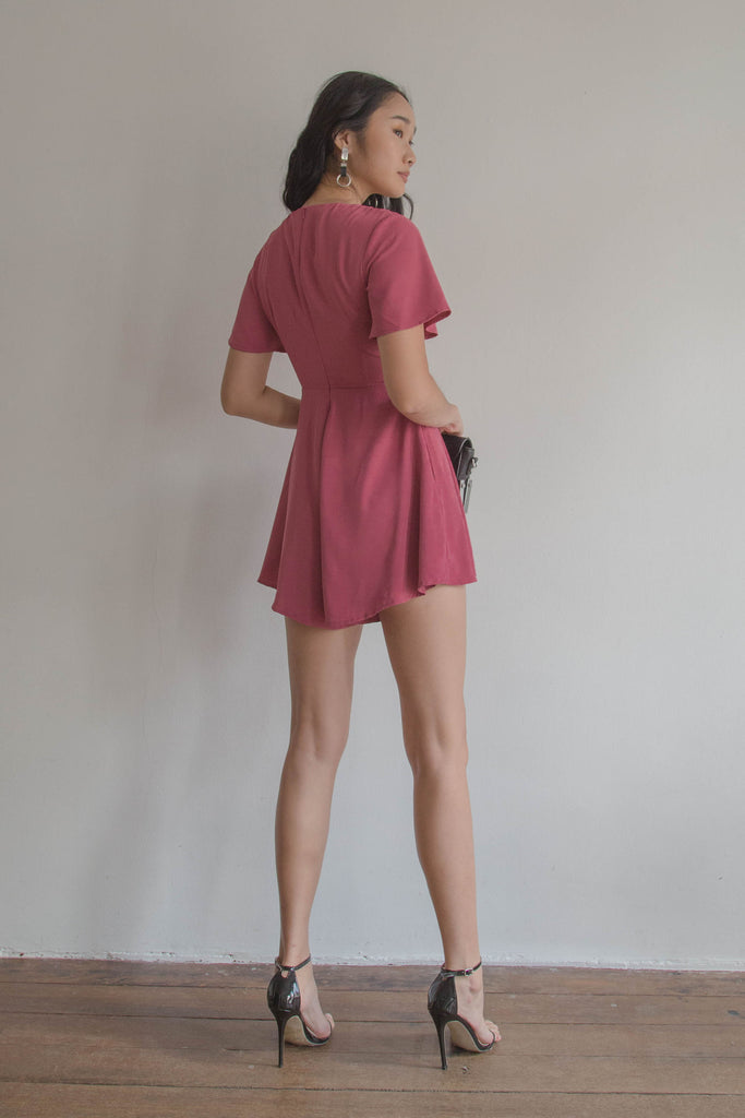 Heartthrob Romper in Punch Red