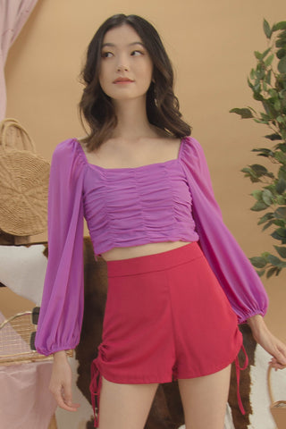 Bell Curve Top in Azalea Pink