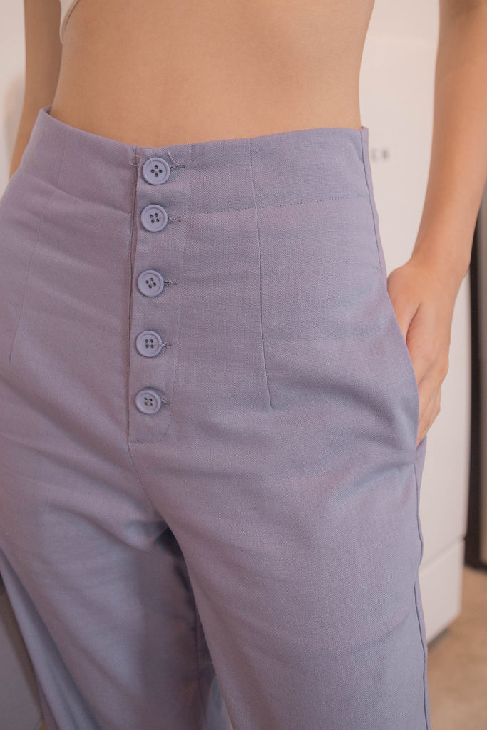 Straight Facts Pants in Heather Blue
