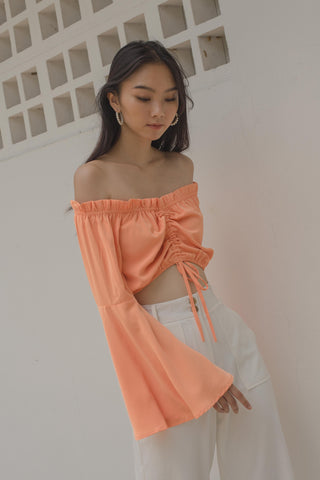 Loaded Buckle Bralet in Tiger Orange