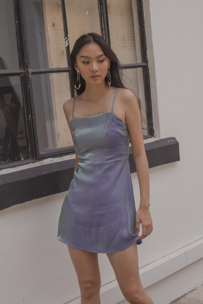 Iridescent Romper in Blue