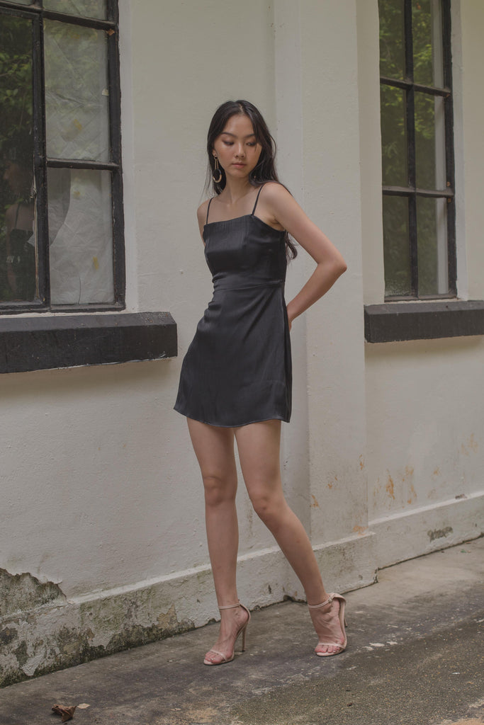 Iridescent Romper in Black
