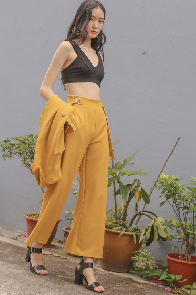 Buckle Up Pants in Bumblebee Yellow