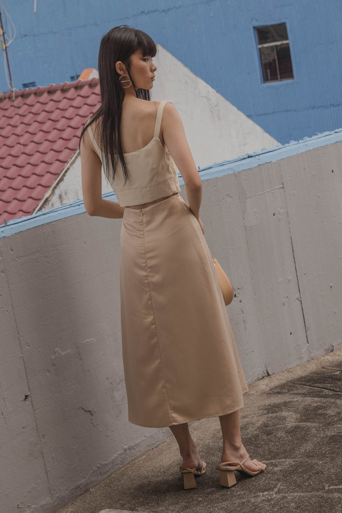 Daydream Skirt in Champagne