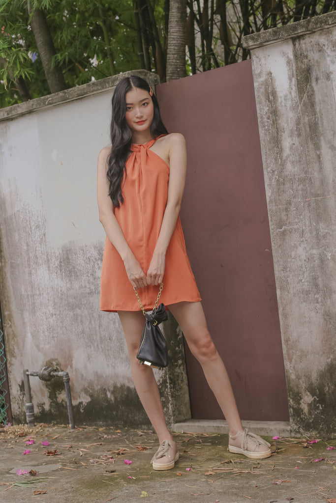 Interloop Dress in Gold Drop Orange