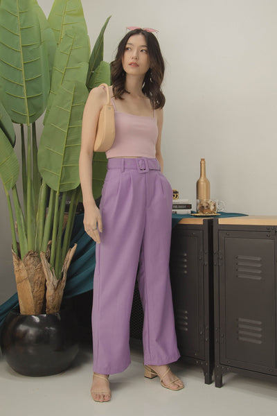 Triple Threat Pants in Amethyst Purple