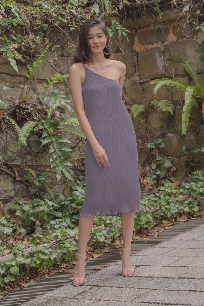 Oh Pleats Midi in Grape Thistle