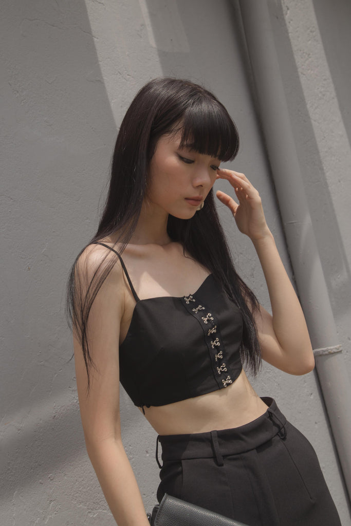 Hooked On You Top in Black