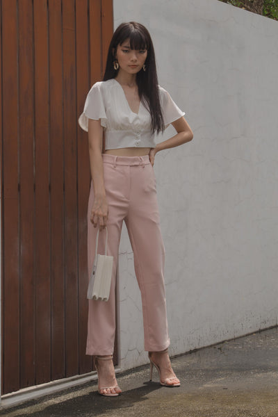 *Back Order* Back To Business Pants in Seashell Pink