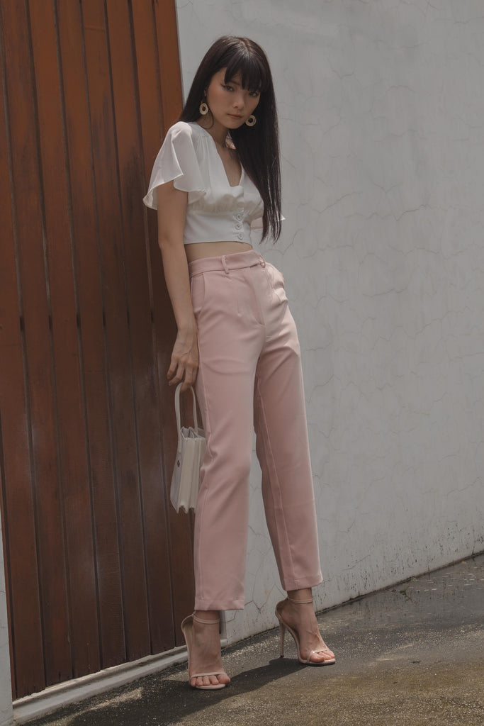 Back To Business Pants in Seashell Pink