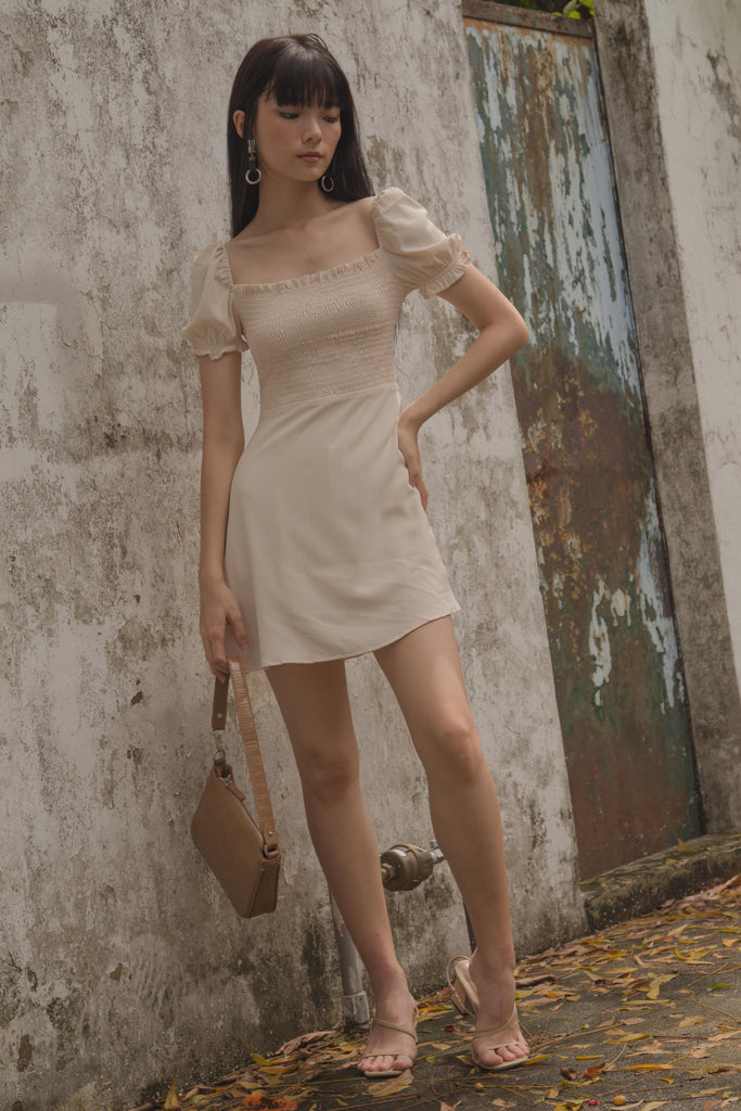 Infatuation Romper in Cream Beige
