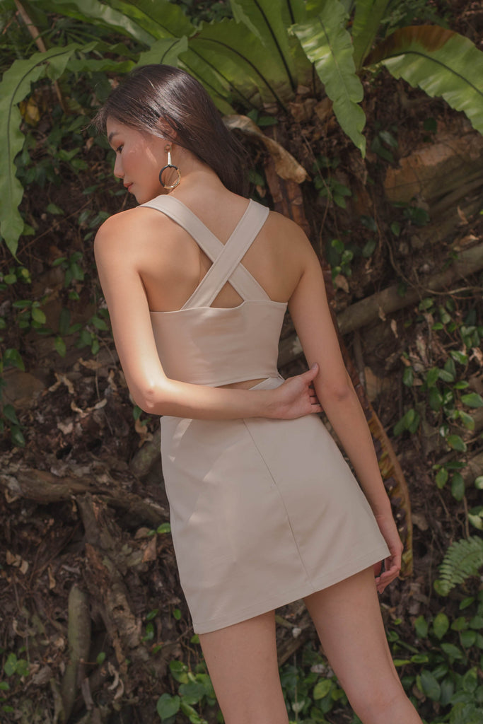 *Back Order* Diagonal Top in Nude